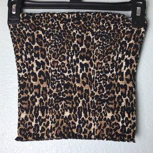 Tops - Leopard Print Tube Top